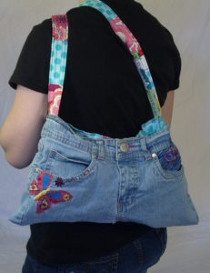 Butterfly pants purse