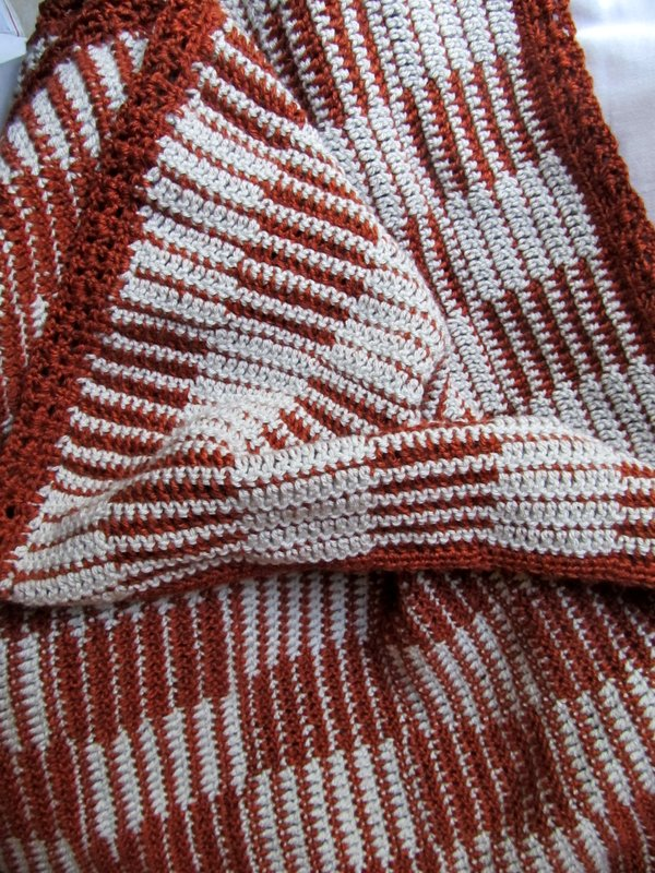 Checkerboard Crochet Afghan Pattern, crochet pattern ChocolateDogStudio
