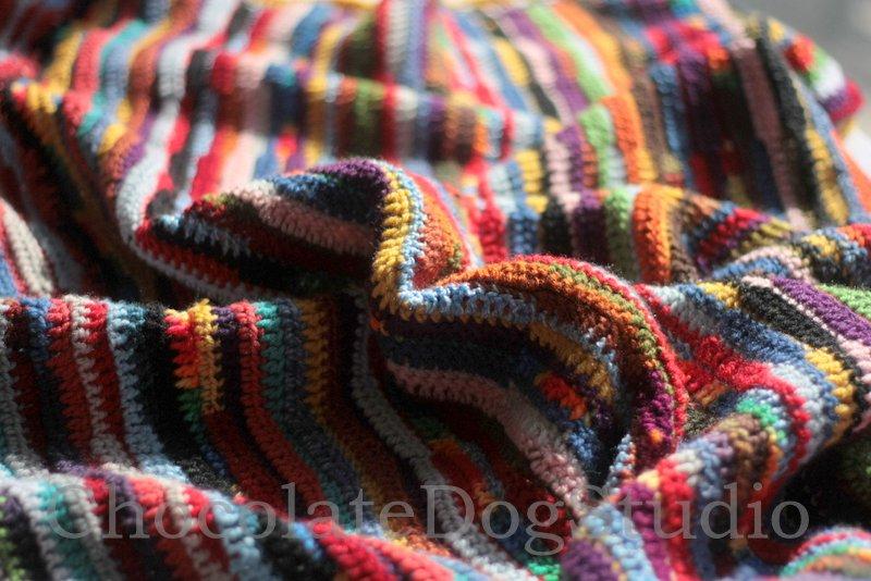 crochet ribbon blanket