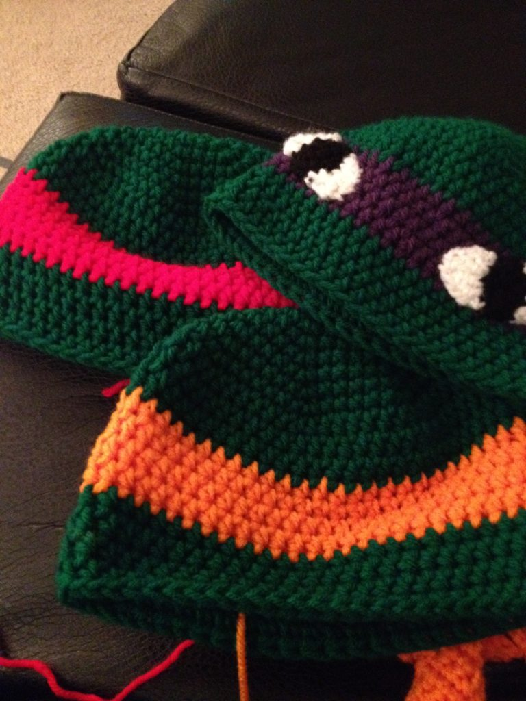 Ninja turtle hats for a friend