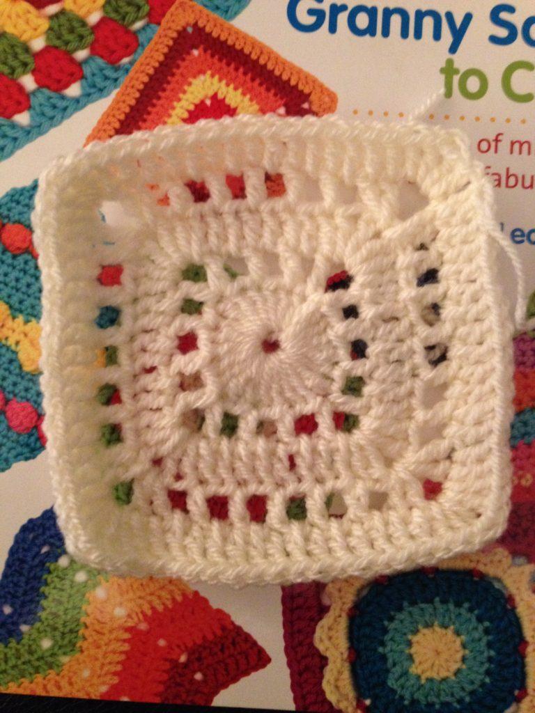 4 Blocks a Week crochet sampler blanket - Week 3