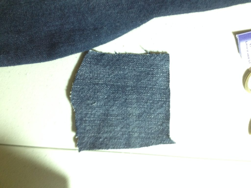Tutorial: How to Patch Your Jeans; ChocolateDogStudio, sewing jeans, patch a 3 corner hole in your jeans