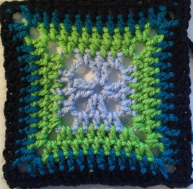 Completed Cathedral Window Granny Square