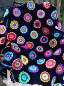 Flower Garden Scrap Afghan