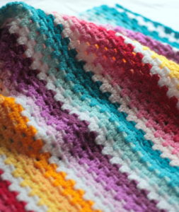 Ombre Granny Stripe Baby Afghan pattern