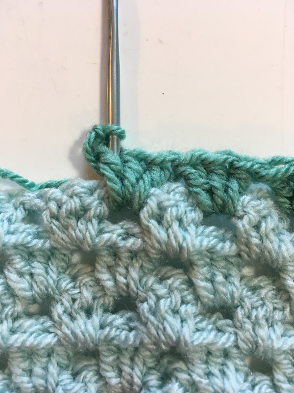 reverse single crochet-- insert hook in stitch to the right