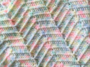 Ridged Ripple Baby Blanket 6
