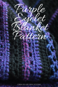 Purple and Black Eyelet Blanket