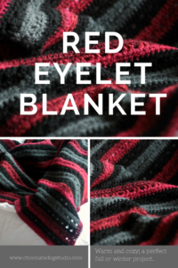 Red and Black Eyelet Blanket