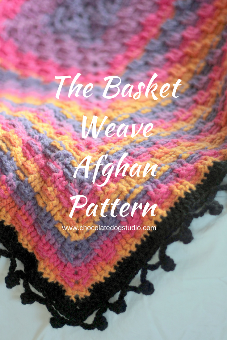 The Basket Weave Afghan Pattern - Chocolate Dog Studio